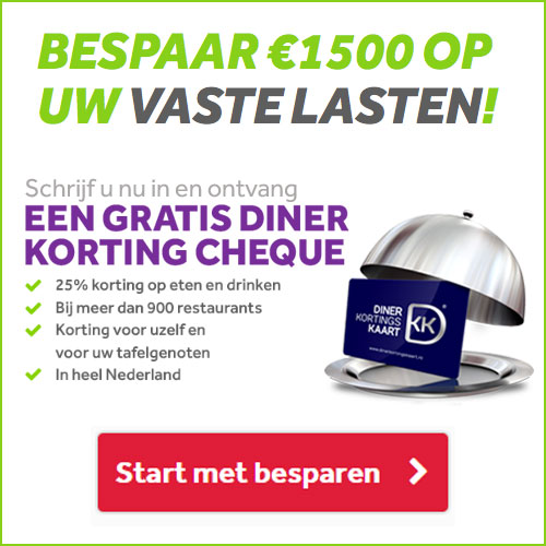 Gratis Diner korting cheque
