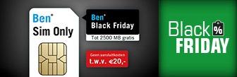 Black Friday bij Ben nu gratis MB's en geen aansluitkosten
