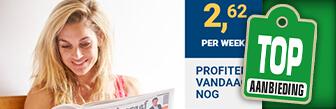 Iedere zaterdag De Telegraaf voor maar € 2,62 per week