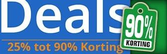 DennisDeals van 25% tot wel 90% korting