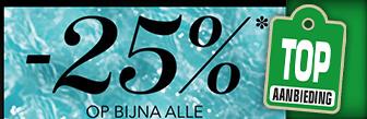 Bijna alle Mascara's en Eyeliners met 25% korting