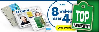 Nu tot wel 8 weken de krant Trouw voor maar € 4,- bij DPG Media