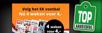 Volg het EK voetbal nu met 4 weken de krant voor 4 euro
