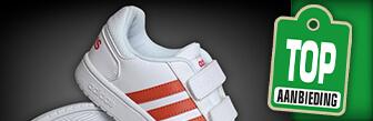 Adidas Hoops 2.0 CMF sneakers meisjes wit/koraal met korting