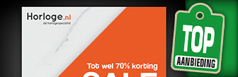 Sale bij Horloge.nl met hoge kortingen tot maar liefst 70%