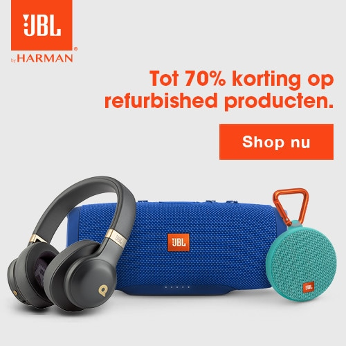 JBL tot 70% korting op refurbished items