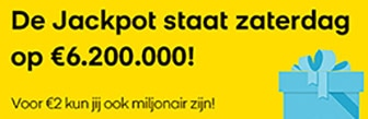 Lotto jackpot van € 6.200.000,-! Doe je mee?