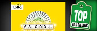 Lotto geeft in mei elke dag € 3.000,- aan één abonnee