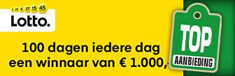 Lotto 100 dagen iedere dag een winnaar van € 1000,-