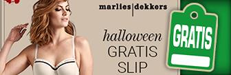 Halloween actie nu tijdelijk een gratis slip bij Marlies Dekkers
