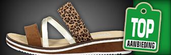 Rieker dames open teen slippers kopen bij Schuurman Schoenen
