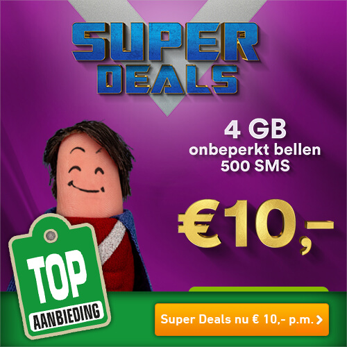Simpel Super Deals nu 4 GB data voor maar € 10,- p.m.