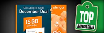 Actie verlengt! Simyo december deal nu geen aansluitkosten bij Sim Only