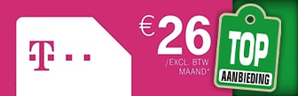Onbeperkt Sim Only zakelijk van T-Mobile € 26,- p.m.