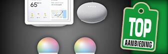 Google nest en Hombli smart Bulb set voor maar € 139,95