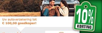 Jouw autoverzekering tot € 100,- goedkoper