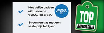 Gratis welkomstcadeau tot € 350,- bij één jaar Vattenfall