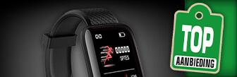 De Smartwatch Fitness Tracker koop je nu met korting