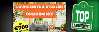 Loungesets en stoelen opruiming tot wel € 700,- korting