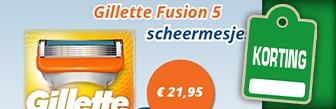 Voordeligscheren 8 Gillette fusion mesjes € 21,95